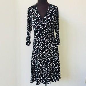 ❗️Chico's Faux Wrap Print Dress MSRP $168!